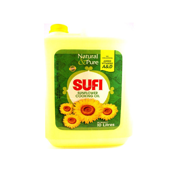 Sufi Sunflower Cooking Oil Can 10ltr