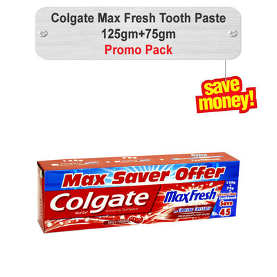Colgate Max Fresh Tooth Paste Promo Pack 125gm+75gm