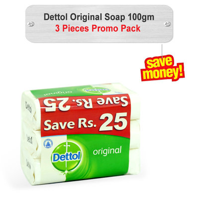 Dettol Original Soap Promo Pack 100gm 3pcs