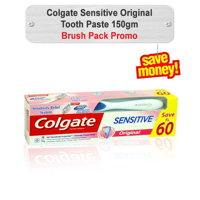 Colgate Sensitive Original Tooth Paste Brush Pack 150gm