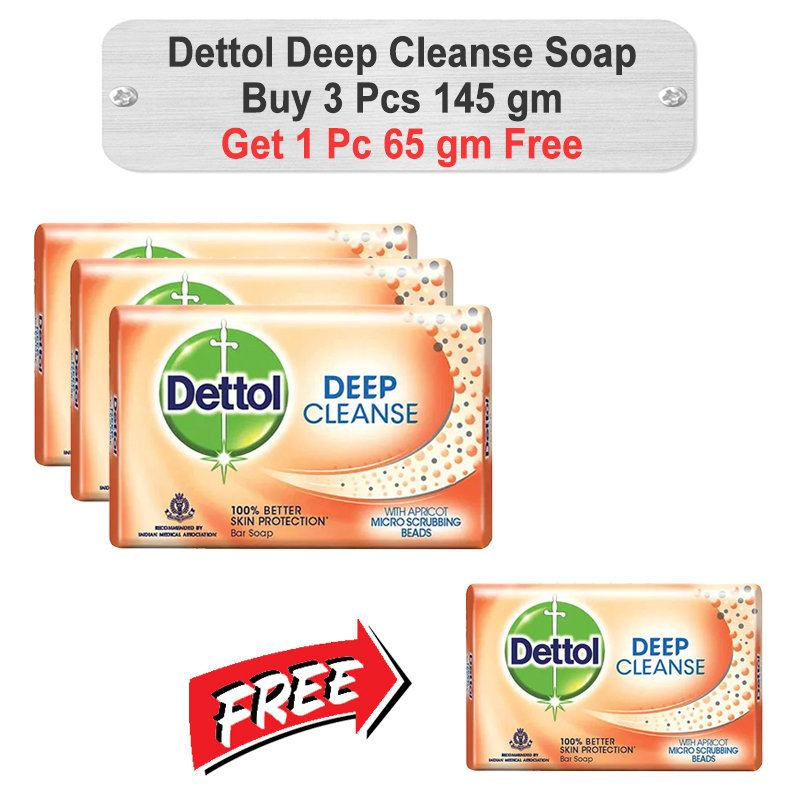Dettol Deep Cleanse Soap Promo Pack 145gm+65gm