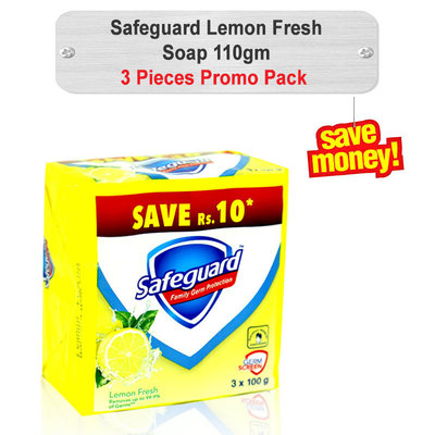 Safeguard Lemon Fresh Soap 110gm 3pcs