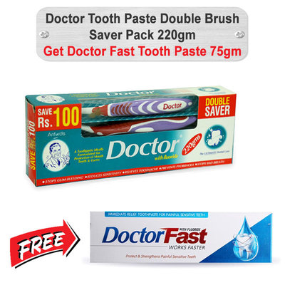 Doctor Tooth Paste Double Brush Saver Pack 220gm