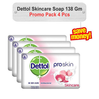 Dettol Skincare Soap Promo Pack 138gm 4pcs