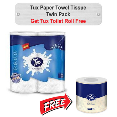 Tux Paper Towel Tissue Twin Pack