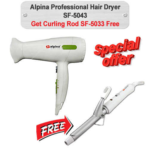 Alpina Hair Dryer W-Free Curler SF-5043-5033 Reliance