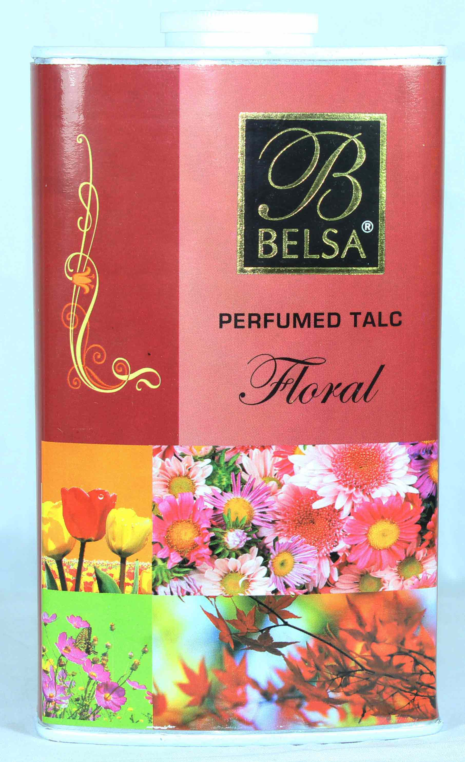 Belsa Floral Perfumed Talcum Powder Large