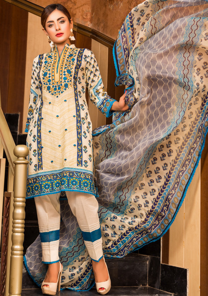 Ruqayyah Beautiful You Lawn Designer Suit 5B