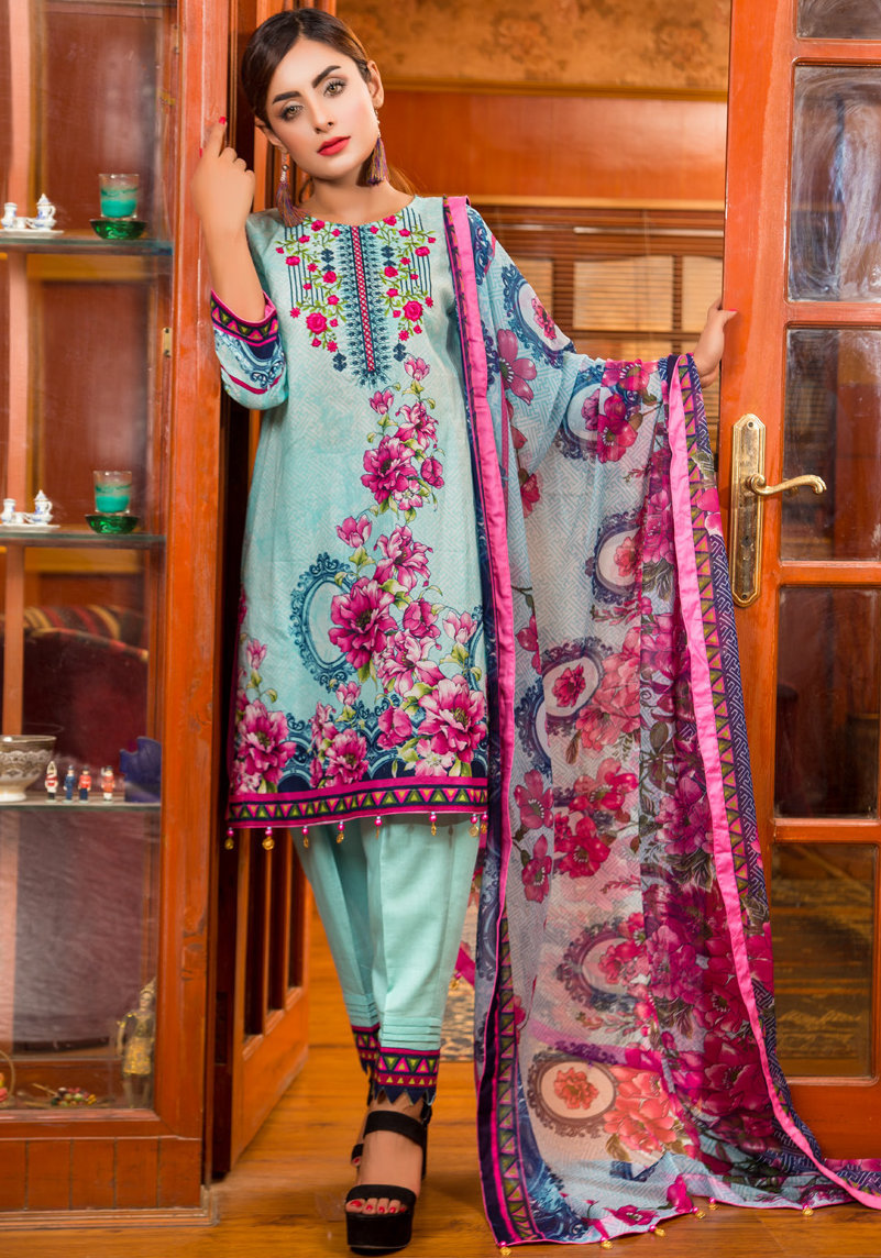 Ruqayyah Beautiful You Lawn Designer Suit 6A