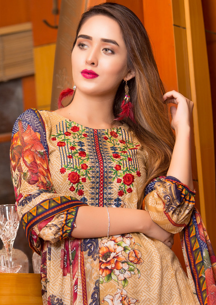 Ruqayyah Beautiful You Lawn Designer Suit 6B