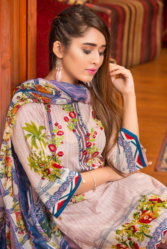 Ruqayyah Beautiful You Lawn Designer Suit 1B