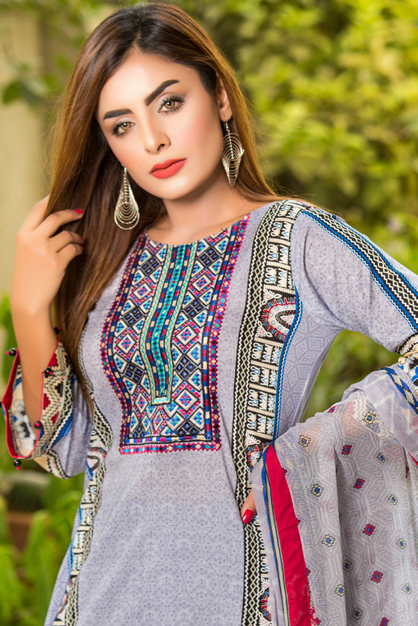 Ruqayyah Beautiful You Lawn Designer Suit 2A
