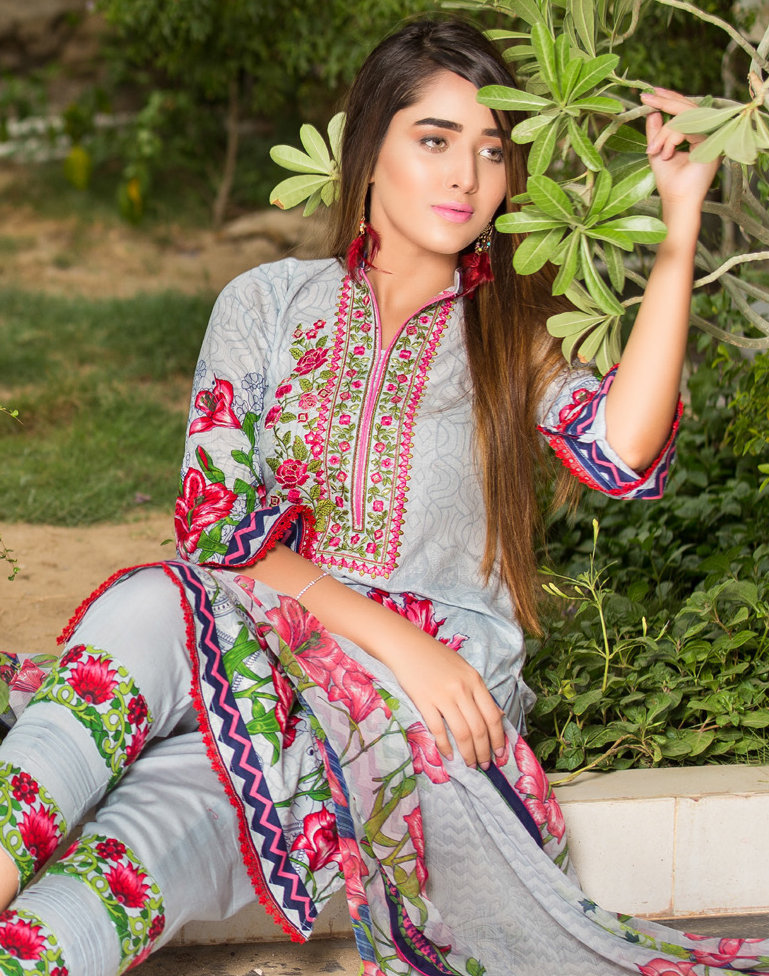 Ruqayyah Beautiful You Lawn Designer Suit 3B