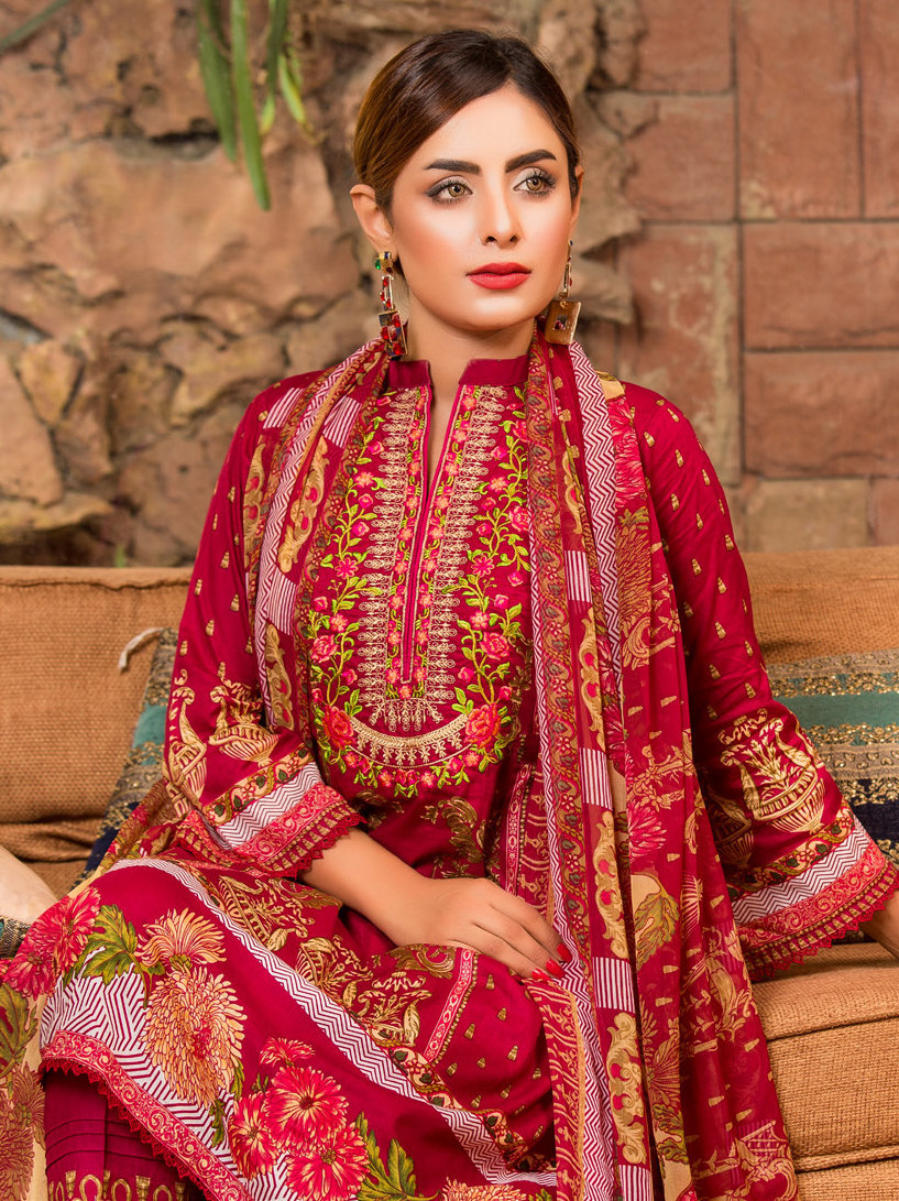 Ruqayyah Beautiful You Lawn Designer Suit 4A