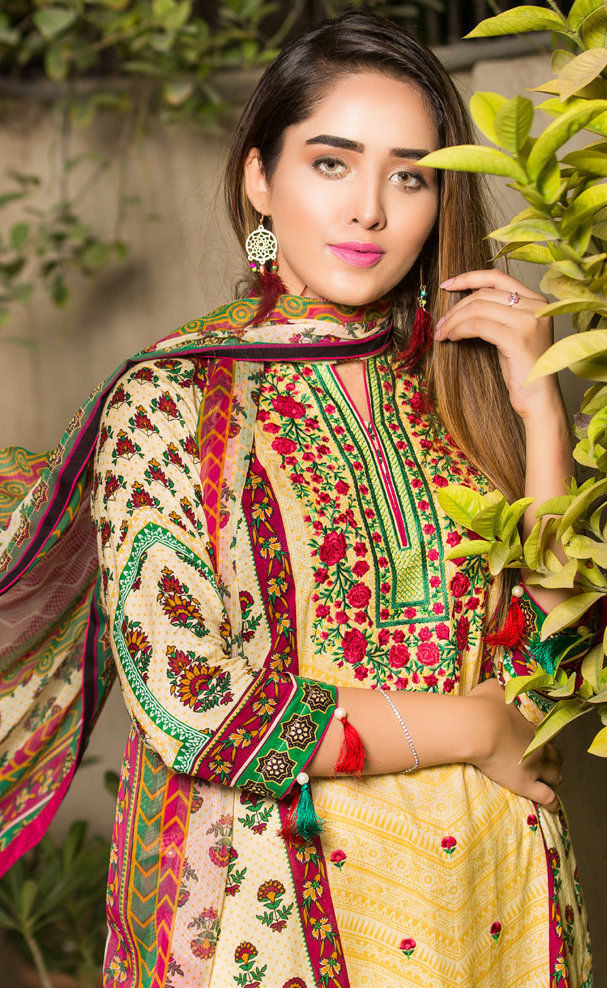 Ruqayyah Beautiful You Lawn Designer Suit 5A