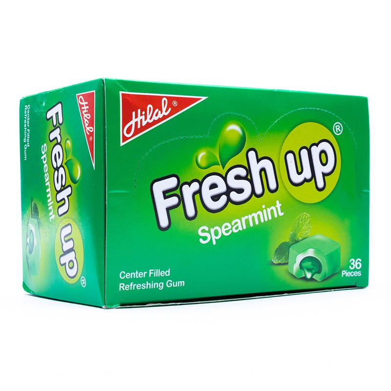 Hilal Fresh Up Refreshing Spearmint Gum Box