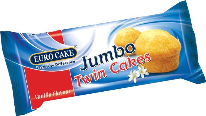 Euro Cake Jumbo Twin Vanilla Cake 70gm