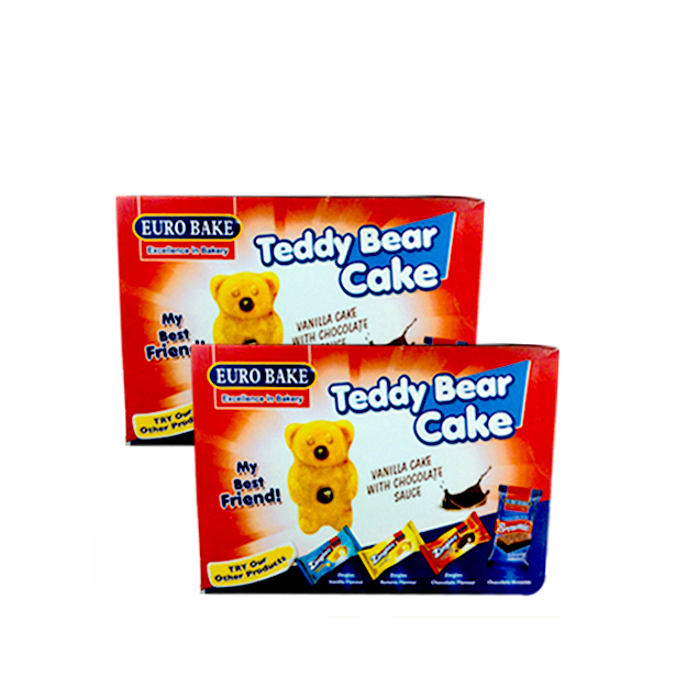 Euro Bake Teddy Bear Cake Box 312gm 2pcs
