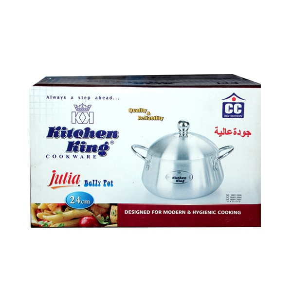 Kitchen King Aluminium Belly Degchi 24cm P-1195