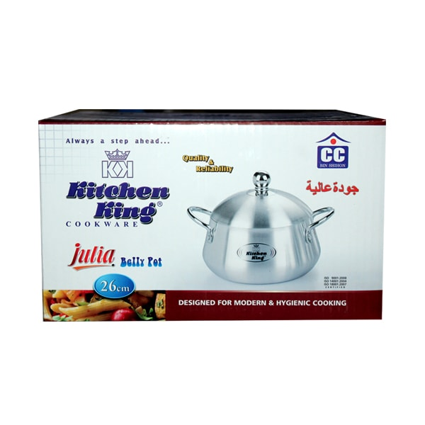 Kitchen King Aluminium Belly Degchi 26cm P-1995