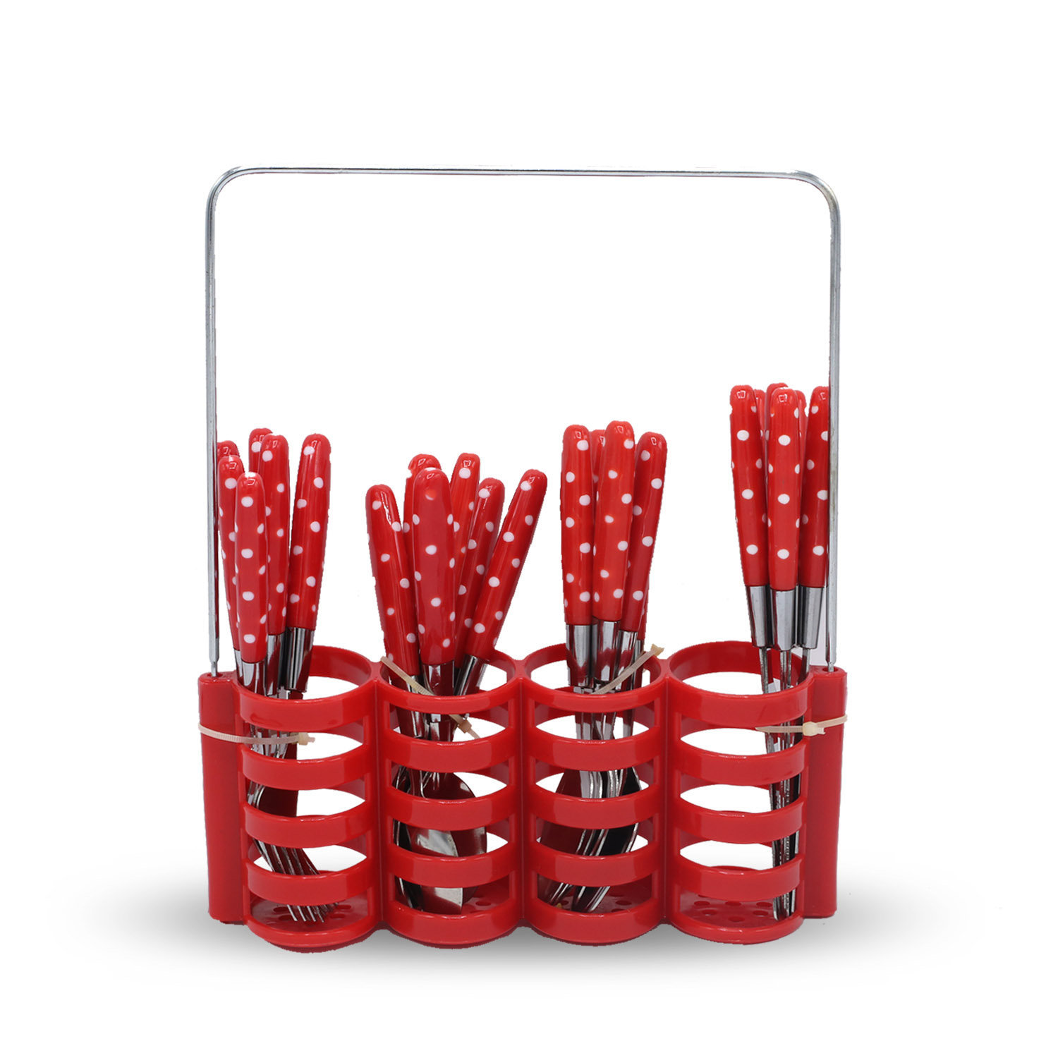 Yes House S-S Cutlery Set W-Holder 24pcs P-1199 B