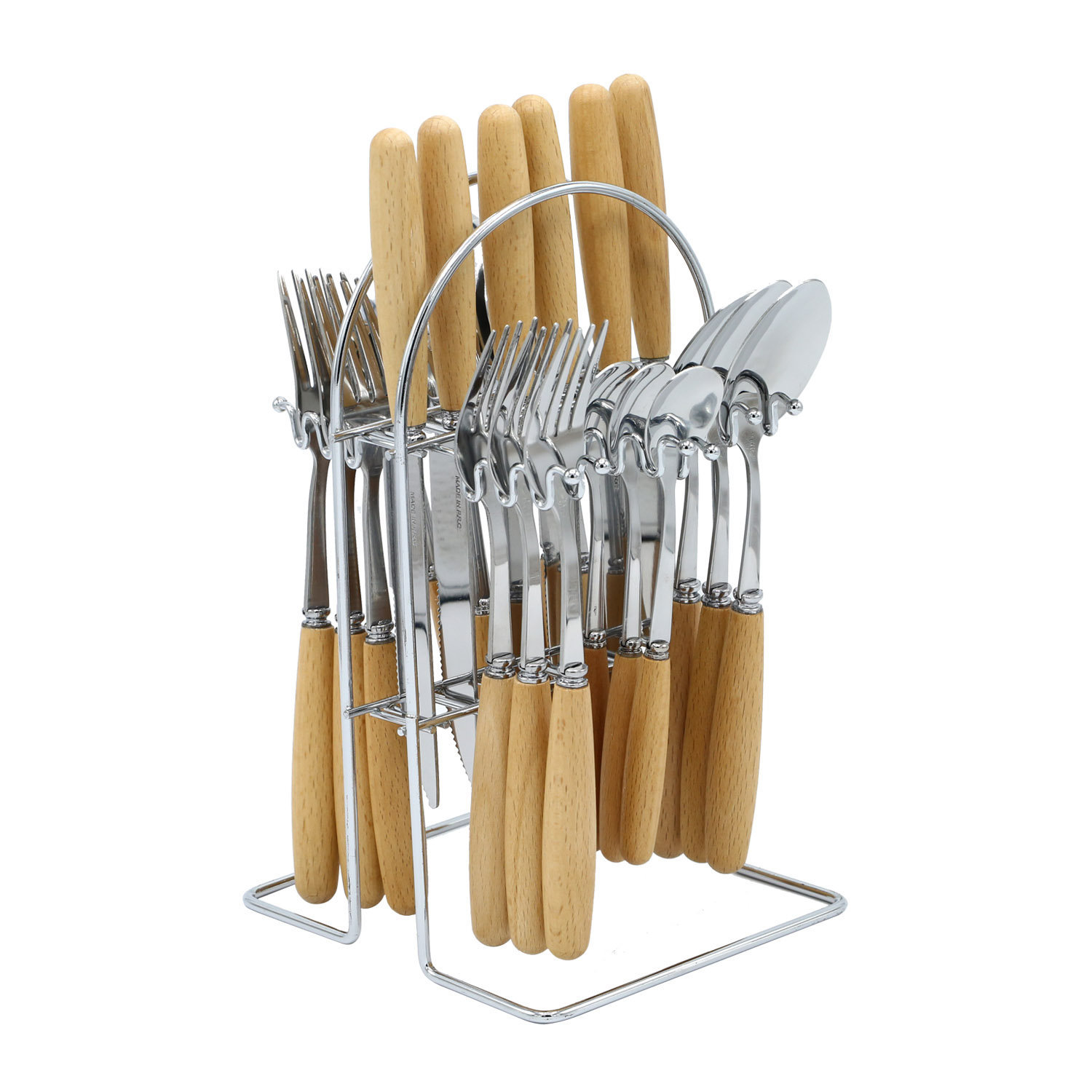 Yes House S-S Cutlery Set Brown 24pcs P-2499