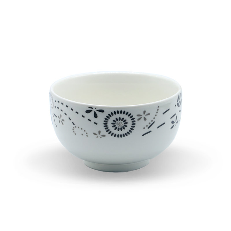 Tianxin Ceramic Bowl P-149 Black Flower