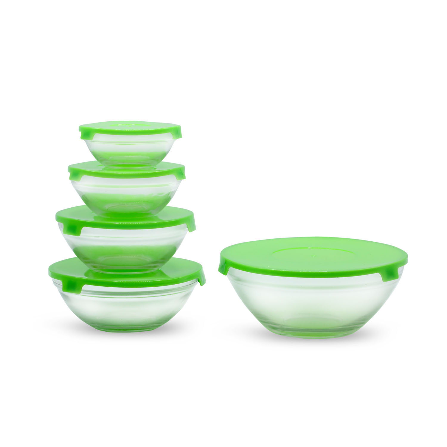 Chase Glass Bowl Set W-Lid 5pcs