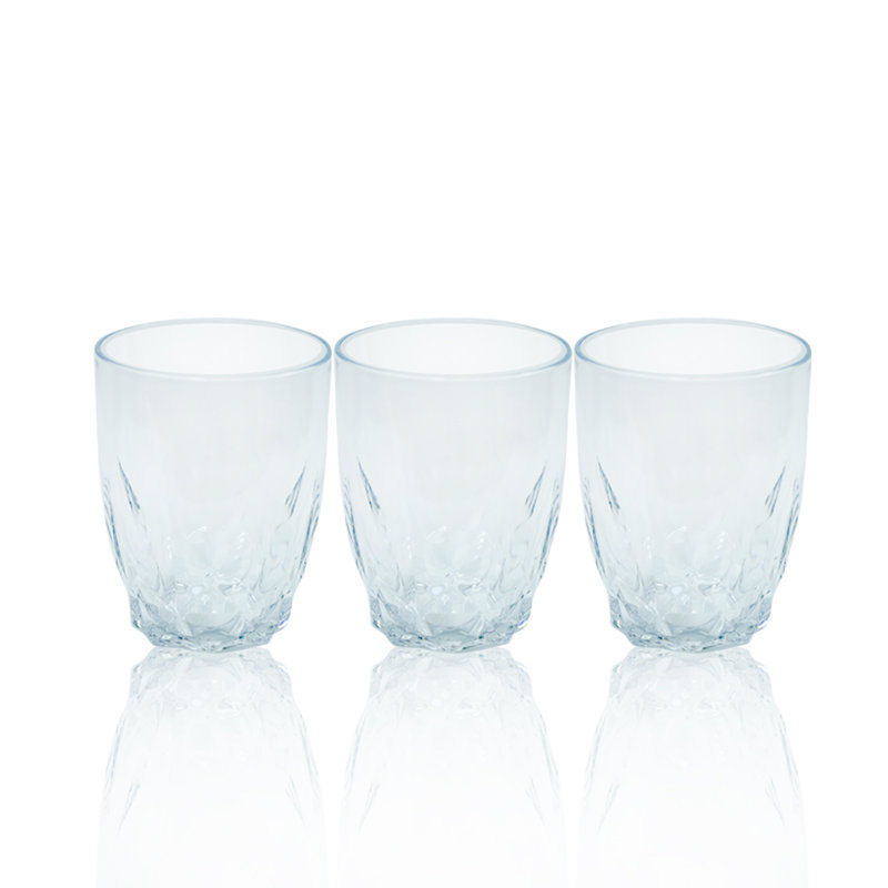 Novel Diamond Glass Set 3pcs White