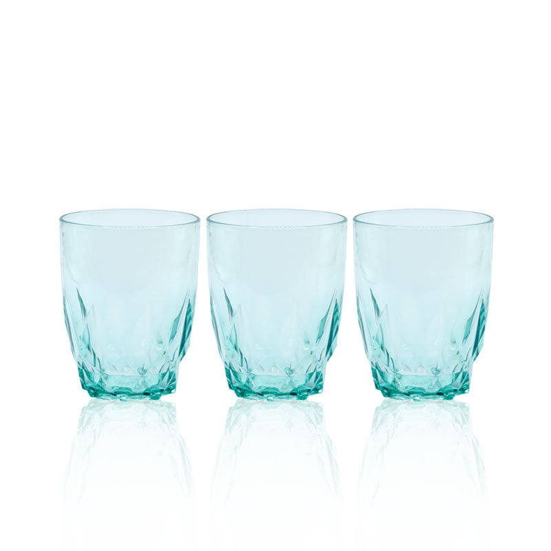 Novel Diamond Glass Set 3pcs Green