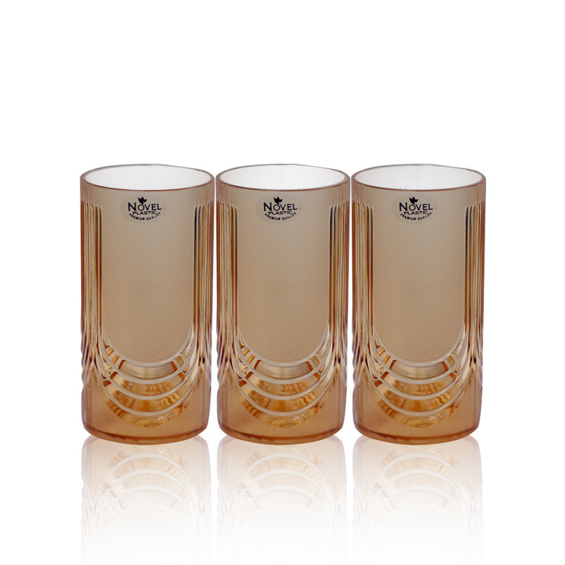 Novel Glass Set 3pcs Brown