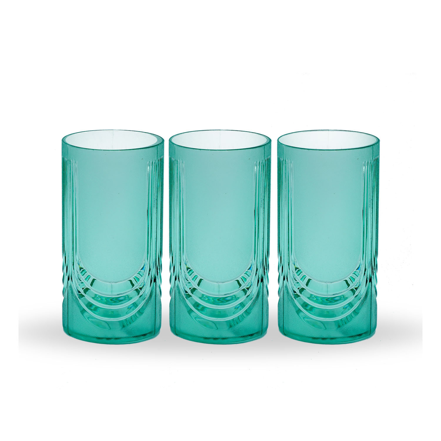 Novel Glass Set 3pcs Green