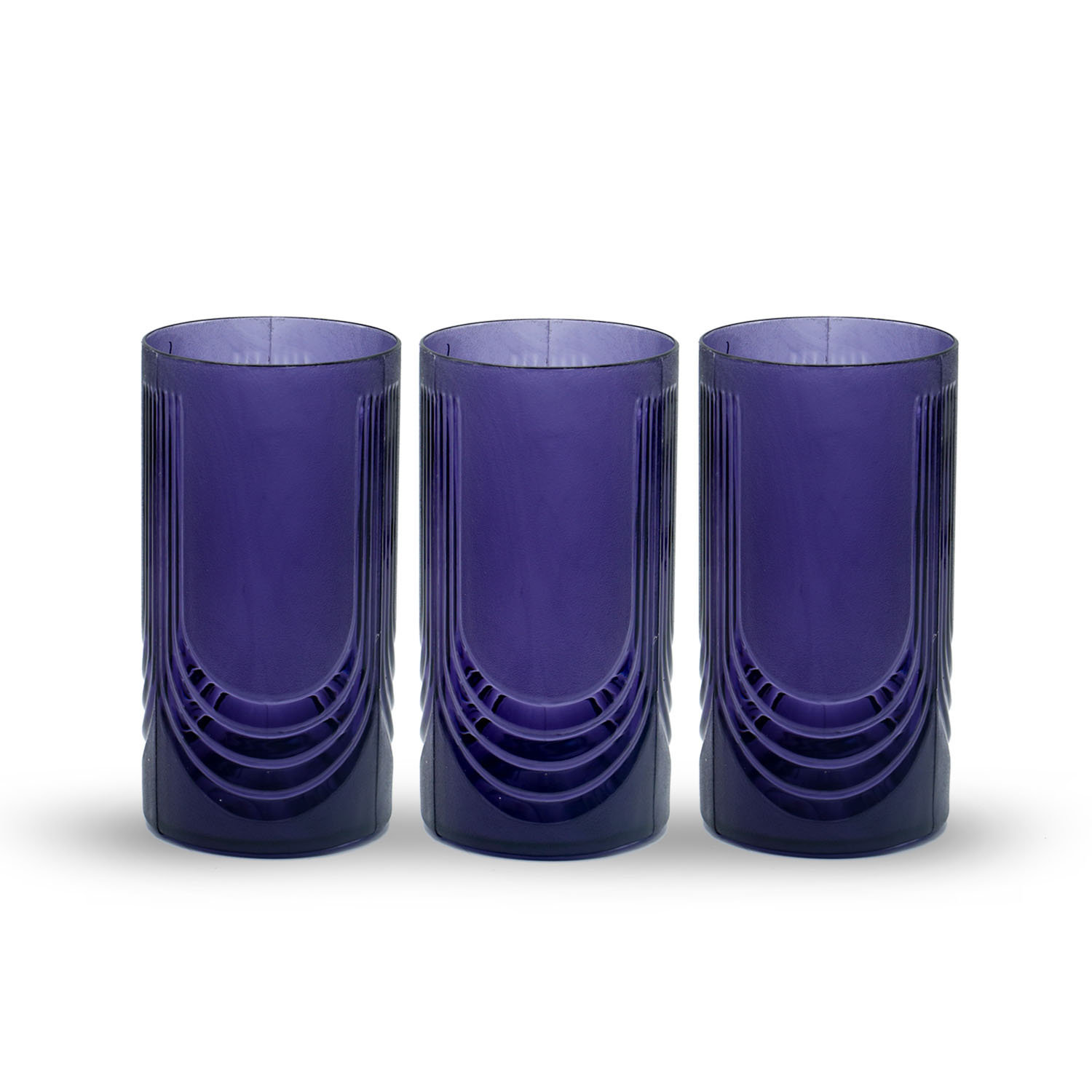 Novel Glass Set 3pcs Black