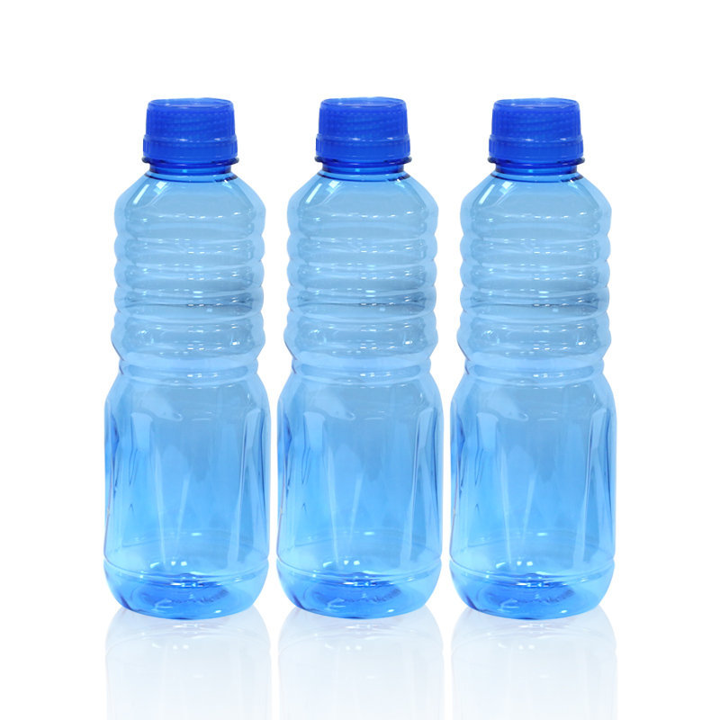 Novel Plastic Apple Water Bottle 3pcs Blue