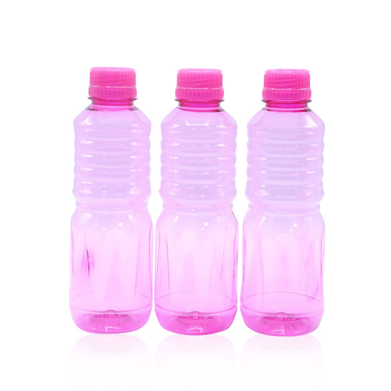 Novel Plastic Apple Water Bottle 3pcs Pink