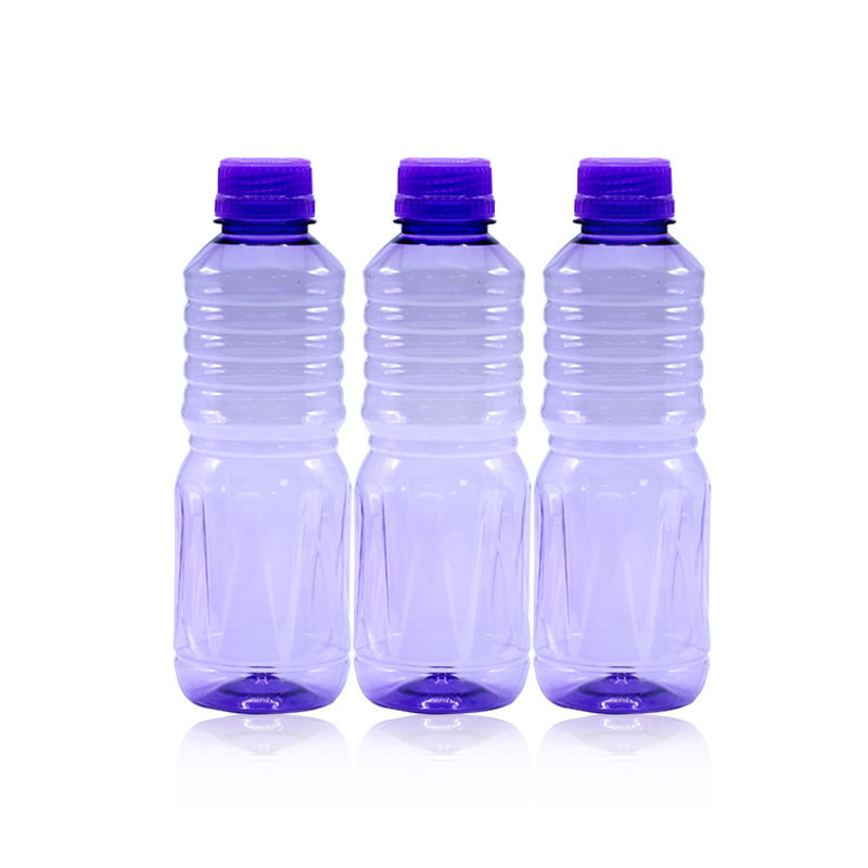 Novel Plastic Apple Water Bottle 3pcs Purple