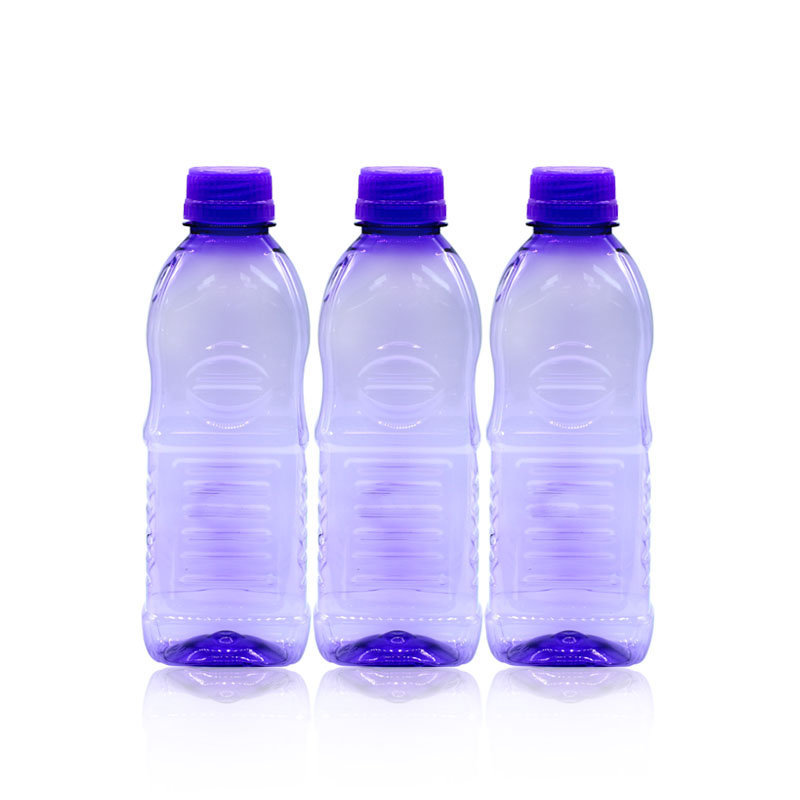 Novel Plastic Water Bottle 3pcs Purple