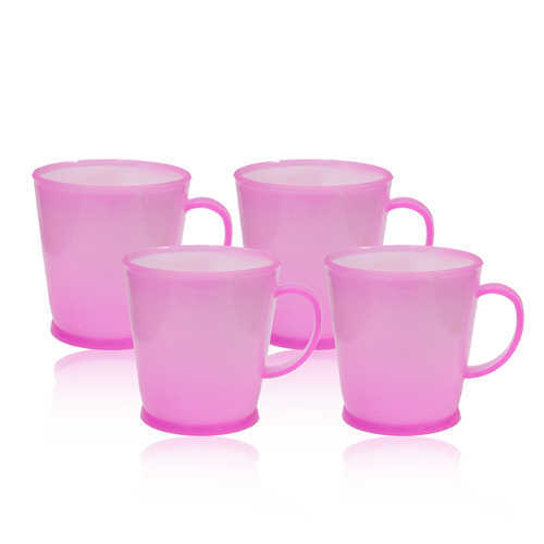 Novel Plastic Tea Cup 4pcs P-99 C