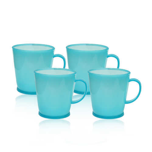 Novel Plastic Tea Cup 4pcs P-99 D