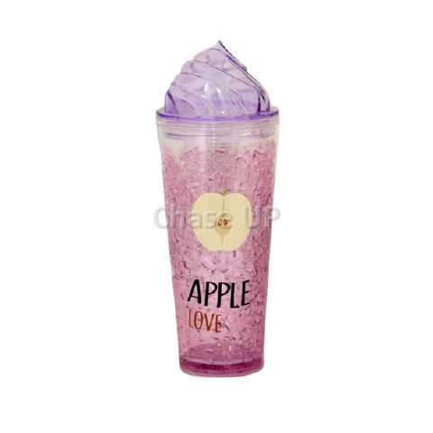 Plastic Transparent Glass W/Straw P-395