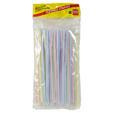 Chaseup Flexible Disposable Straw 6mm 100pcs