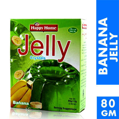 Happy Home Crystal Banana Jelly Mix 80gm