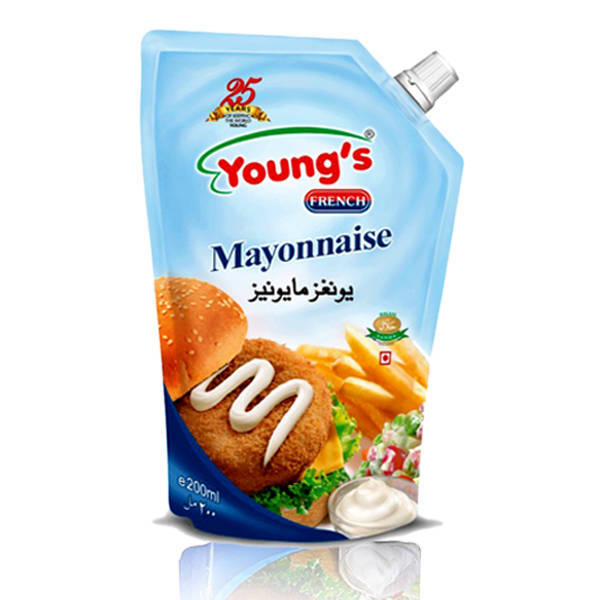 Youngs French Mayonnaise Pouch 1ltr